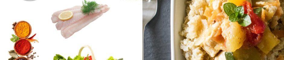 Quinoa-con-verdure-e-merluzzo-al-limone