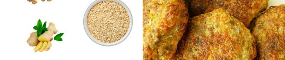 polpette di quinoa e ceci