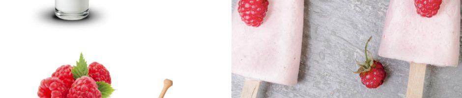 gelato di yogurt e lampone