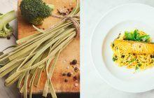 Trenette broccoli e trota salmonata