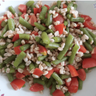 Farro pomodorini e fagiolini