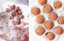 tartufini con ricotta cacao