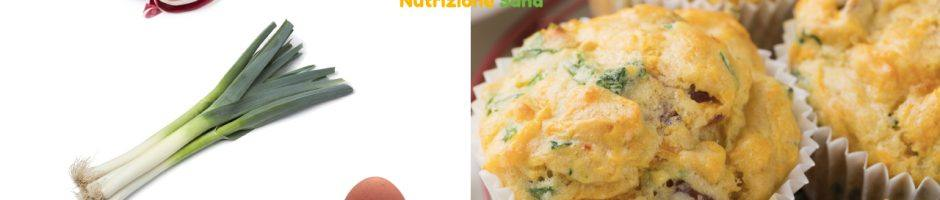 muffin salati con ingredienti