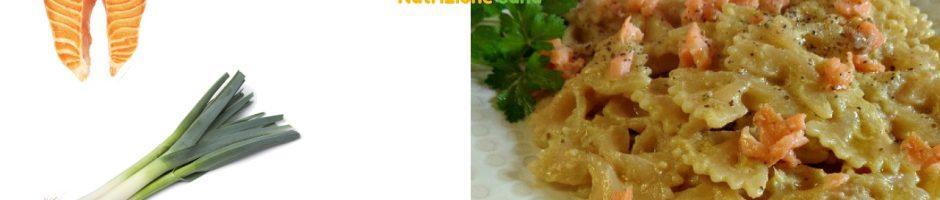 Pasta-salmone-carciofi-porro ingredienti