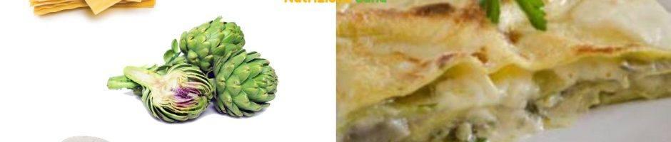 pasticcio di carciofi con ingredienti vegetariani