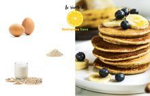 pancakes all'avena con ingredienti