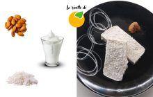 Barrette di yogurt cocco mandorle gelate