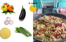 cous cous estivo zucchine peperoni melanzane